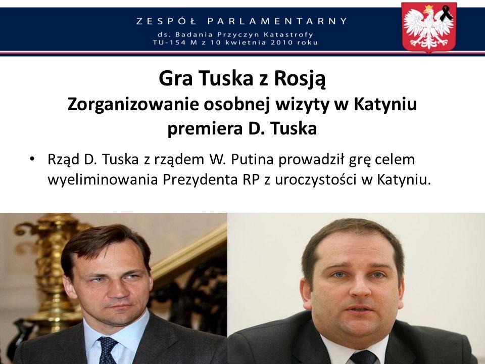 Gra Tuska z Rosją Biała Księga Tragedii Smoleńskiej – Rozdziały 3, 8, 10, 17 i 18