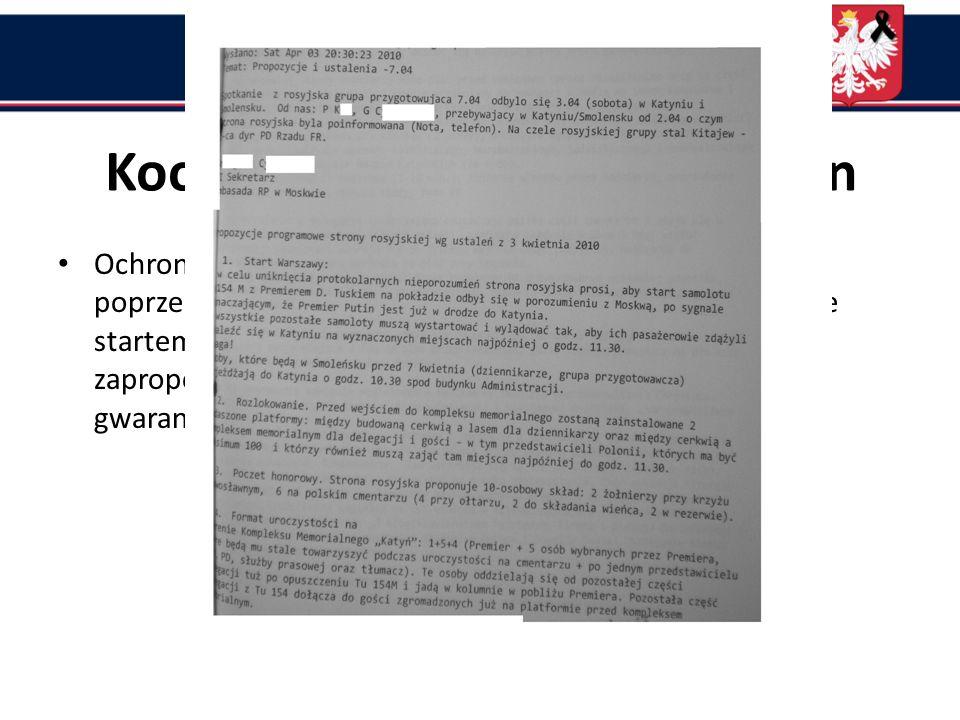 Próbowano uzyskać dane z lotniska w Smoleńsku za pośrednictwem naszego attache wojskowego w Moskwie, ale do 10 kwietnia 2010 r. depesz METAR i TAF z t