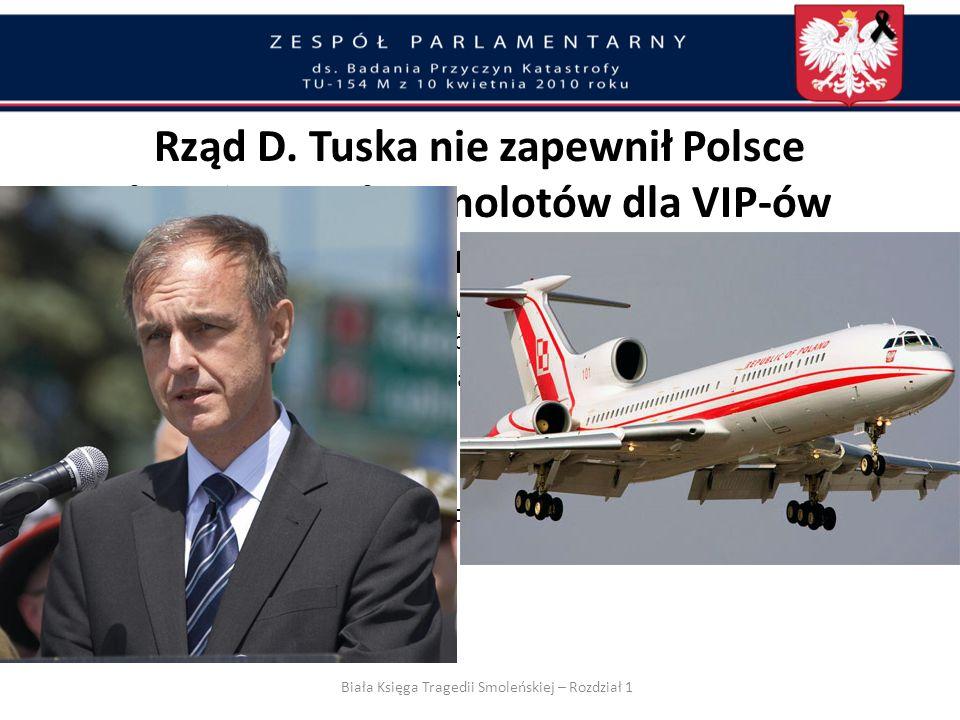 Złamanie zasad ochrony Prezydenta i VIP-ów Zrezygnowanie z rosyjskiego nawigatora na pokładzie Tu-154M – co bezpośrednio obciąża Ministra Spraw Zagranicznych Nie dopełniono obowiązku rozpoznania zagrożeń i przekazania informacji na ten temat – co bezpośrednio obciąża Szefów ABW, AW, SKW i SWW Nie zabezpieczono dwu samolotów dla Prezydenta.