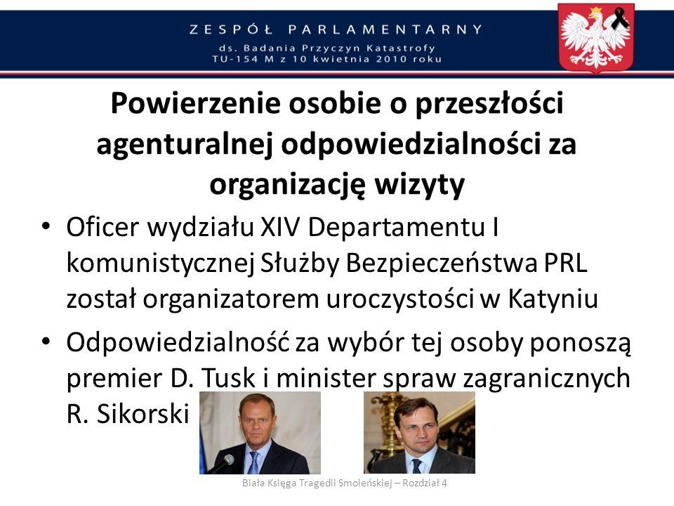 Przygotowania do wizyty Premiera w Katyniu w dniu 7 kwietnia i wizyty Prezydenta w Katyniu w dniu 10 kwietnia koordynował i nadzorował Tomasz Turowski
