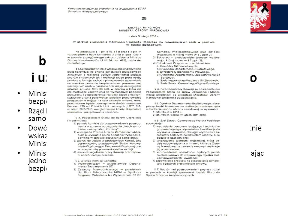 Złamanie zasad ochrony Prezydenta i VIP-ów Ustawa o Biurze Ochrony Rządu Złamanie ustawy z dn.