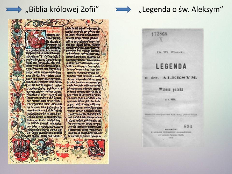 Biblia królowej ZofiiLegenda o św. Aleksym