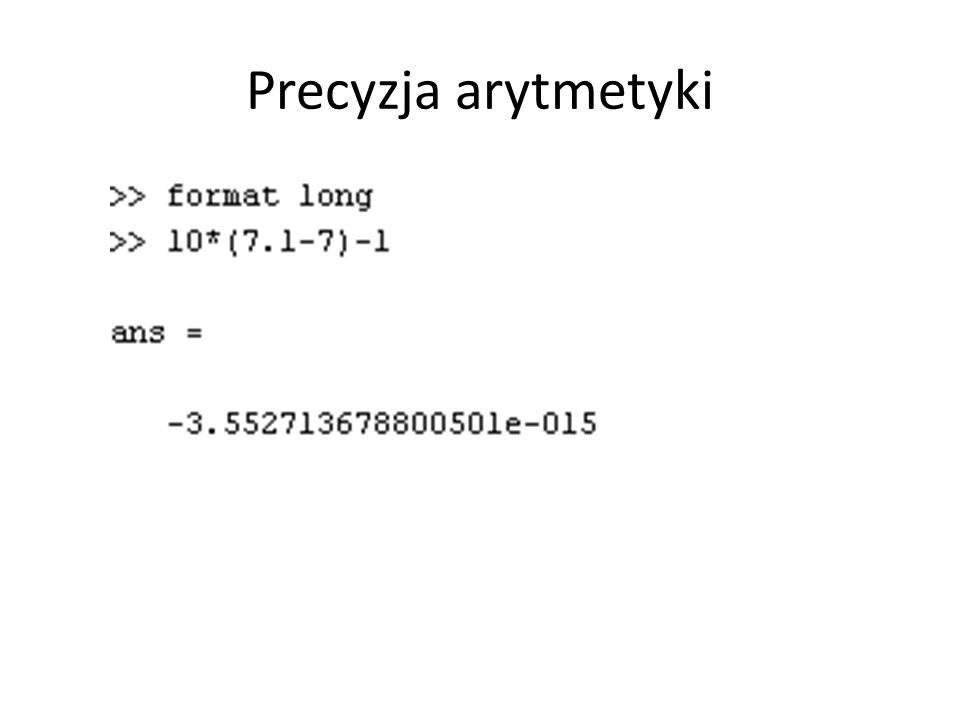 Precyzja arytmetyki