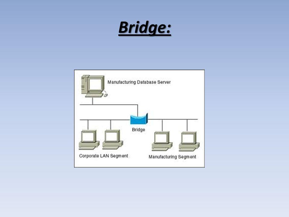 Most lub mostek– urządzenie łączące dwie lub więcej sieci lub segmenty sieci dokonując filtrowania ruchu sieciowego.