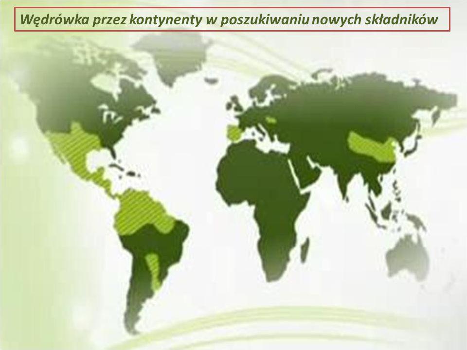 Wędrówka przez kontynenty w poszukiwaniu nowych składników