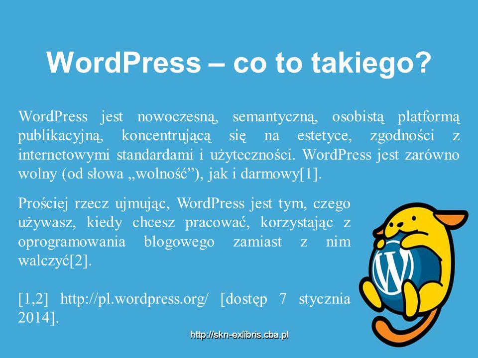 WordPress – co to takiego? WordPress jest nowoczesną, semantyczną, osobistą platformą publikacyjną, koncentrującą się na estetyce, zgodności z interne