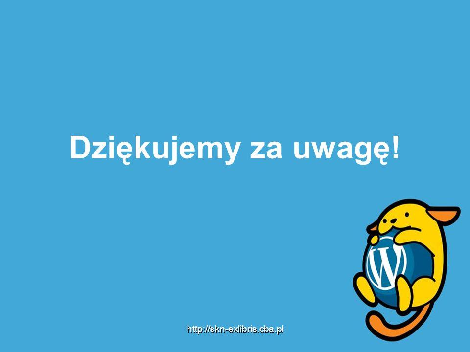 Dziękujemy za uwagę! http://skn-exlibris.cba.pl