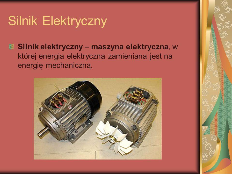 Silnik Elektryczny Silnik elektryczny – maszyna elektryczna, w której energia elektryczna zamieniana jest na energię mechaniczną.