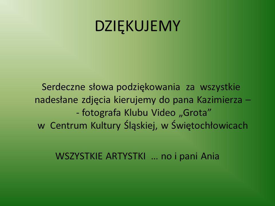 DZIĘKUJEMY Serdeczne słowa podziękowania za wszystkie nadesłane zdjęcia kierujemy do pana Kazimierza – - fotografa Klubu Video Grota w Centrum Kultury