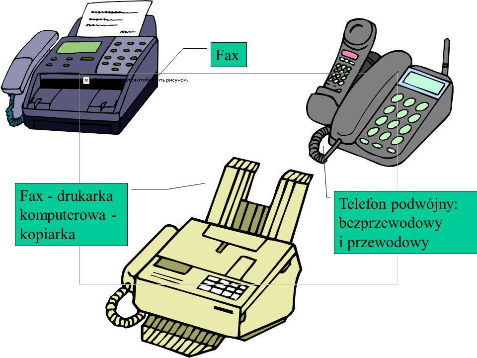 Fax Fax - drukarka komputerowa - kopiarka Telefon podwójny: bezprzewodowy i przewodowy