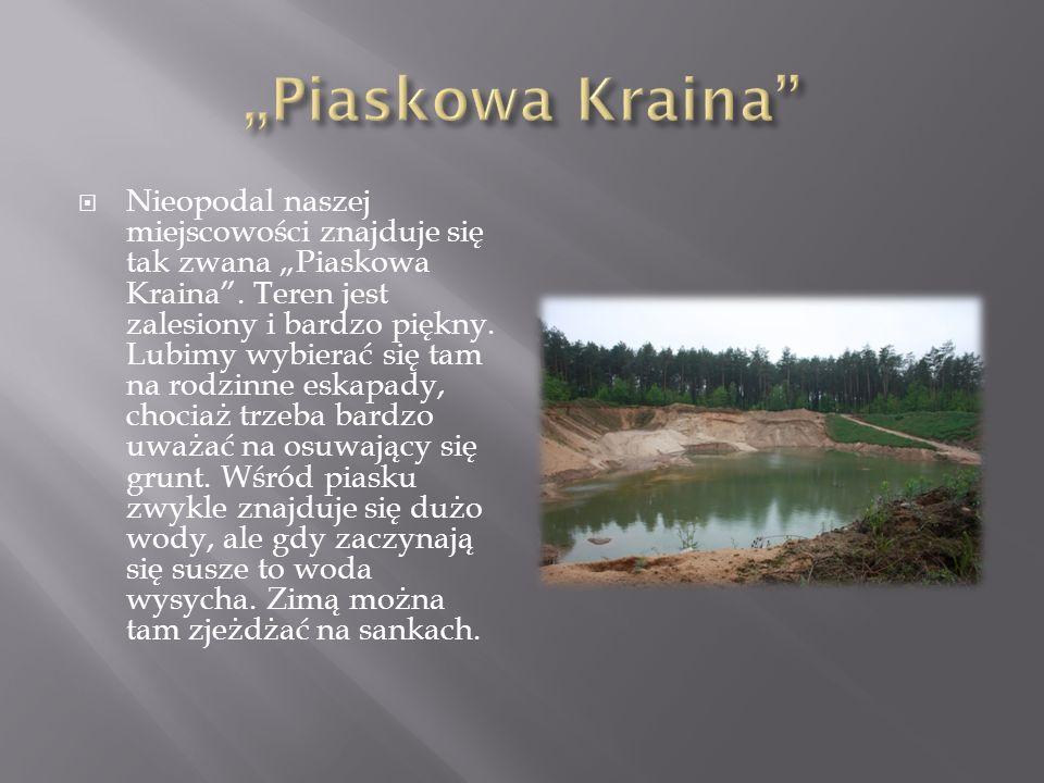 Nieopodal naszej miejscowości znajduje się tak zwana Piaskowa Kraina.