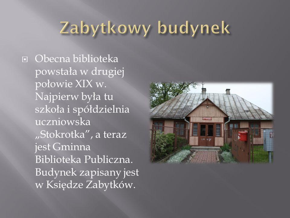 Obecna biblioteka powstała w drugiej połowie XIX w.