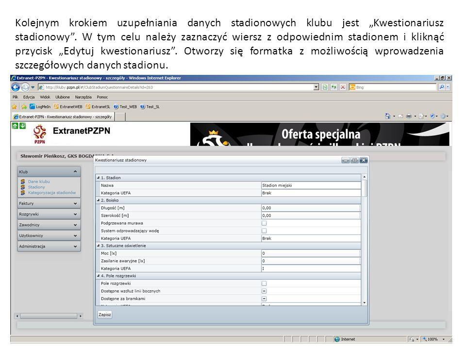 Wprowadzenie wszystkich niezbędnych danych i zapisanie ich zamknie formatkę wprowadzania nowego zawodnika i wygeneruje ikonę w kolumnie Wygeneruj formularz umożliwiający wydrukowanie formularza rejestracyjnego nowo wprowadzonego zawodnika.