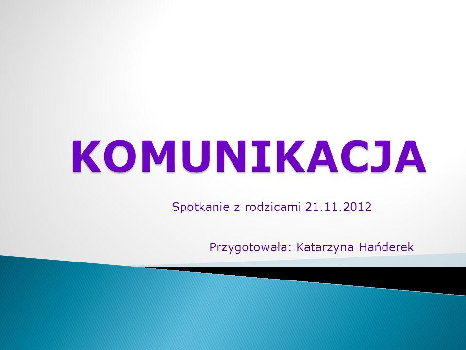 Spotkanie z rodzicami 21.11.2012 Przygotowała: Katarzyna Hańderek