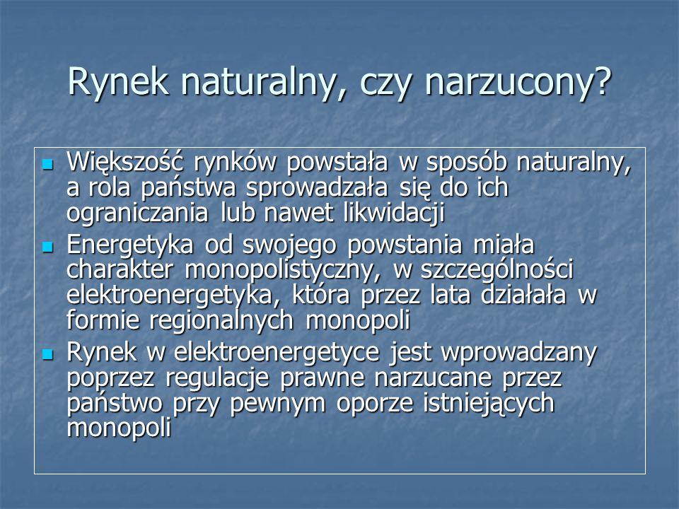 Rynek naturalny, czy narzucony? Większość rynków powstała w sposób naturalny, a rola państwa sprowadzała się do ich ograniczania lub nawet likwidacji