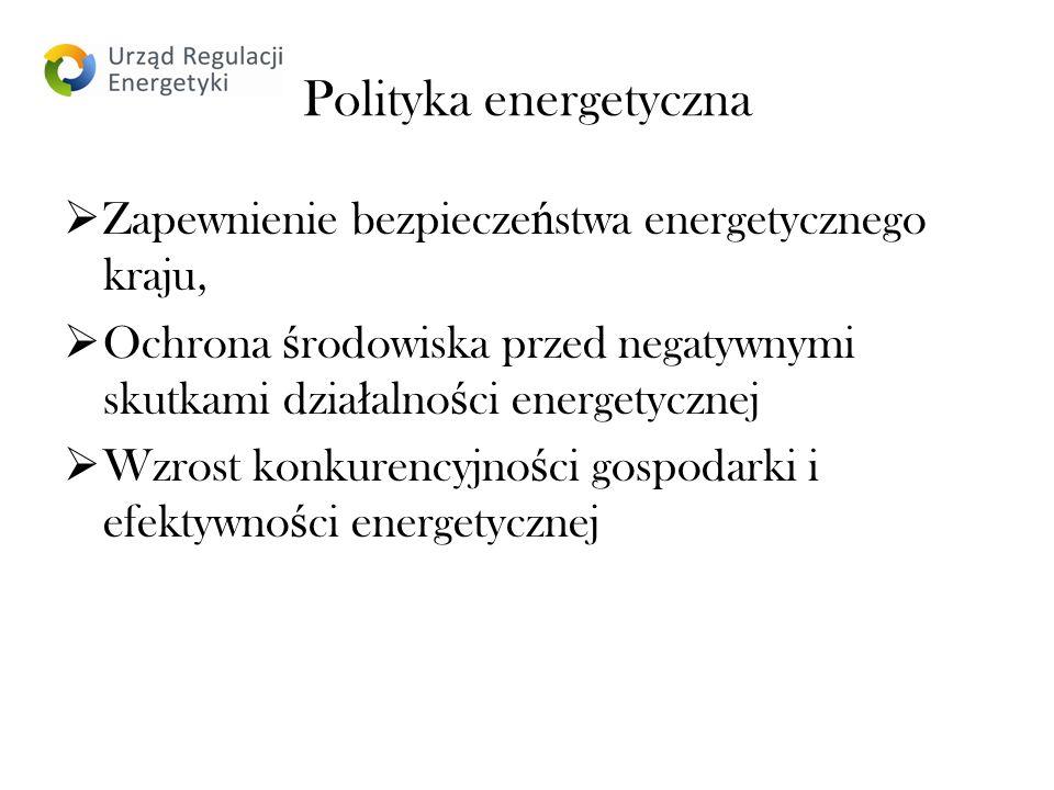 Polityka energetyczna Zapewnienie bezpiecze ń stwa energetycznego kraju, Ochrona ś rodowiska przed negatywnymi skutkami dzia ł alno ś ci energetycznej Wzrost konkurencyjno ś ci gospodarki i efektywno ś ci energetycznej