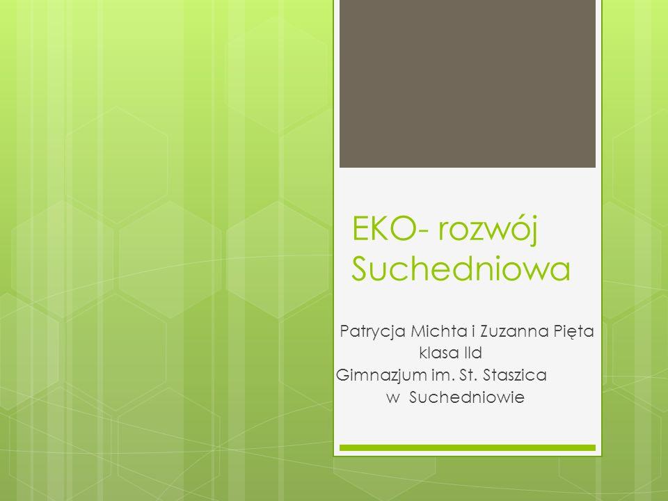 EKO- rozwój Suchedniowa Patrycja Michta i Zuzanna Pięta klasa IId Gimnazjum im. St. Staszica w Suchedniowie