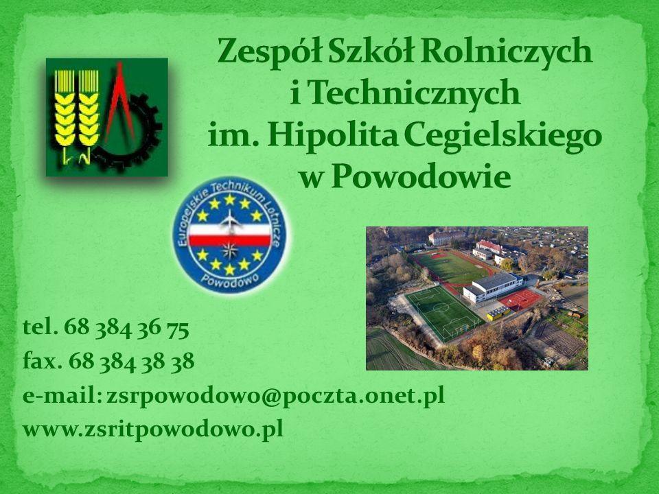 tel. 68 384 36 75 fax. 68 384 38 38 e-mail: zsrpowodowo@poczta.onet.pl www.zsritpowodowo.pl