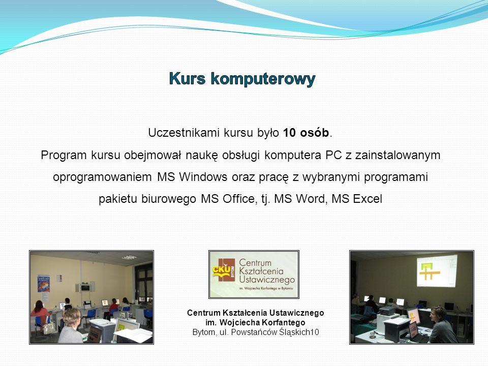 Centrum Kształcenia Ustawicznego im. Wojciecha Korfantego Bytom, ul.