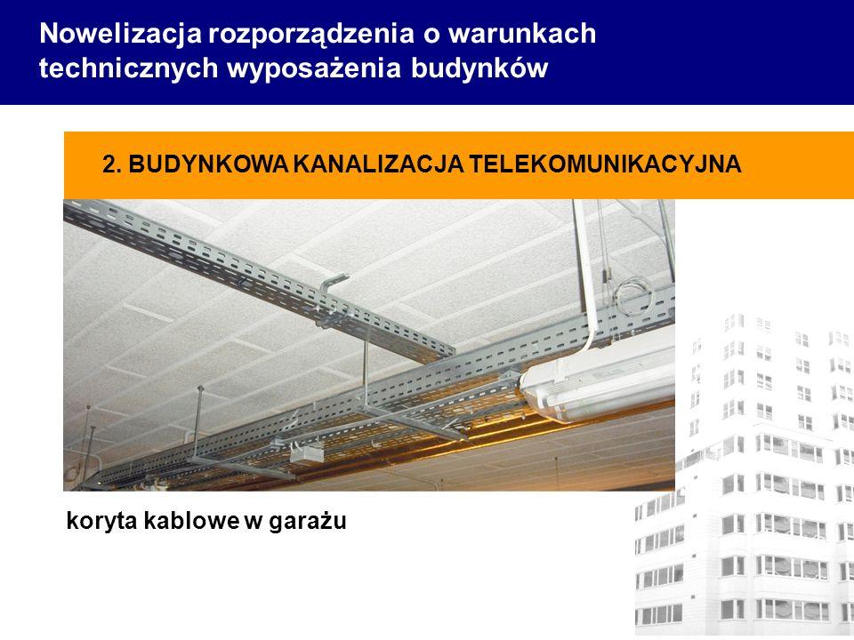 Nowelizacja rozporządzenia o warunkach technicznych wyposażenia budynków koryta kablowe w garażu 2. BUDYNKOWA KANALIZACJA TELEKOMUNIKACYJNA