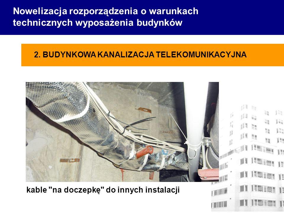 Nowelizacja rozporządzenia o warunkach technicznych wyposażenia budynków kable na doczepkę do innych instalacji 2.