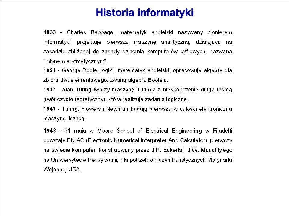 Informatyka obejmuje: 1.dyscyplinę naukową i gałąź wiedzy, dotyczące przetwarzania informacji przy użyciu środków technicznych (komputerów). Obejmuje