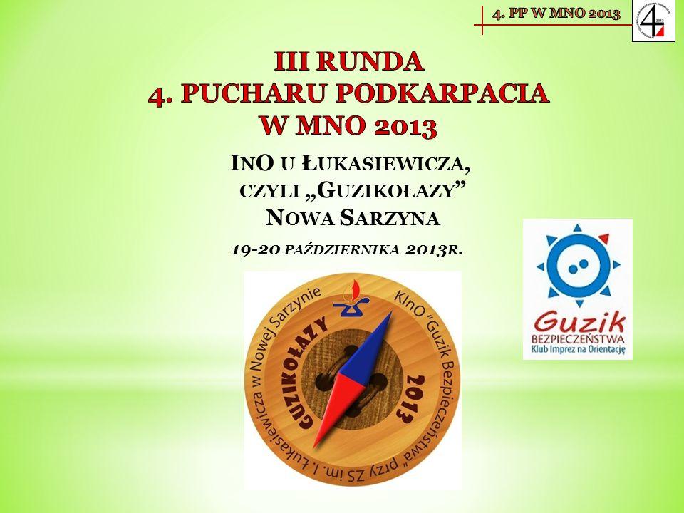 I N O U Ł UKASIEWICZA, CZYLI G UZIKOŁAZY N OWA S ARZYNA 19-20 PAŹDZIERNIKA 2013 R.