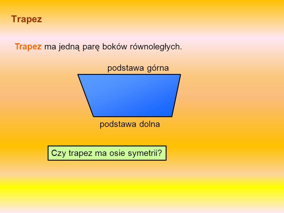 Trapez Trapez ma jedną parę boków równoległych.Czy trapez ma osie symetrii.