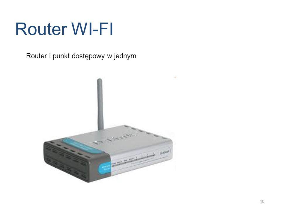 Router i punkt dostępowy w jednym Router WI-FI 40
