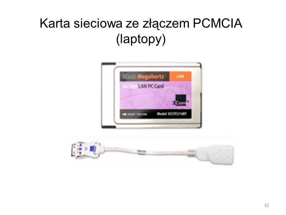 Karta sieciowa ze złączem PCMCIA (laptopy) 42
