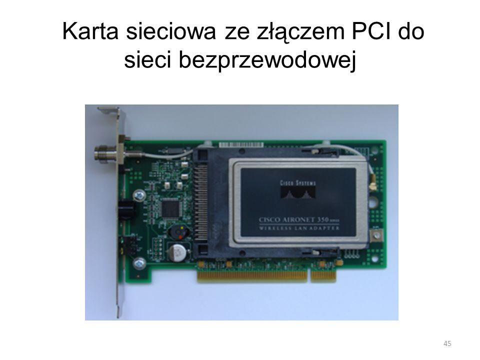 Karta sieciowa ze złączem PCI do sieci bezprzewodowej 45