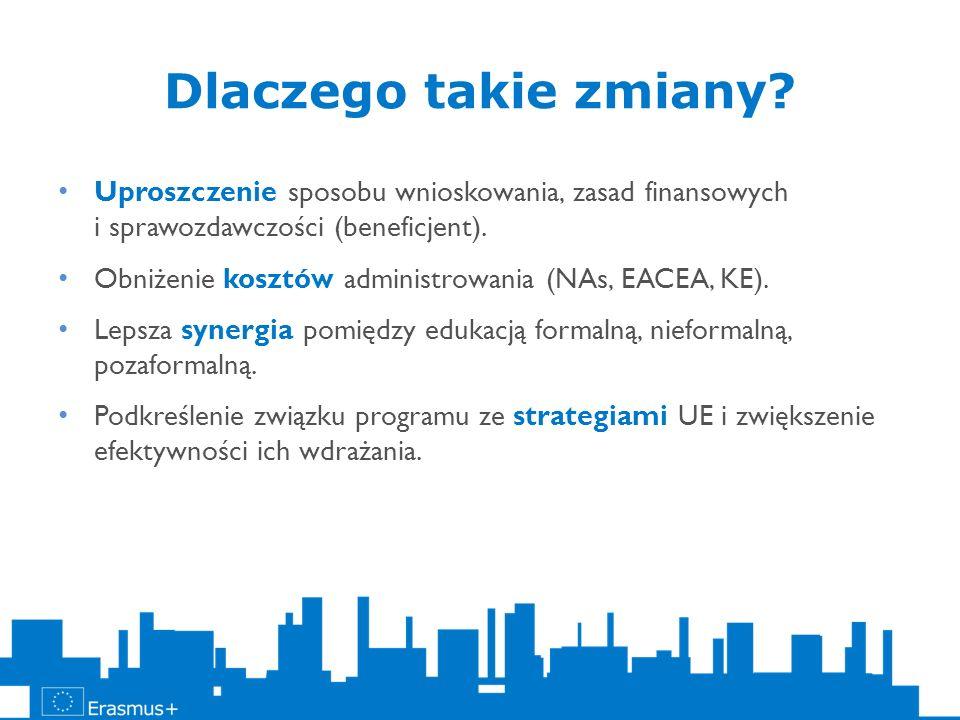 Nowa inicjatywa budowana na programach: Uczenie się przez całe życie (akcje: Comenius Regio, Transfer Innowacji, Projekty partnerskie COM/GRU/LdV, projekty centralne, Tworzenie innowacji, Kursy intensywne) i MwD Akcja 2: Partnerstwa strategiczne