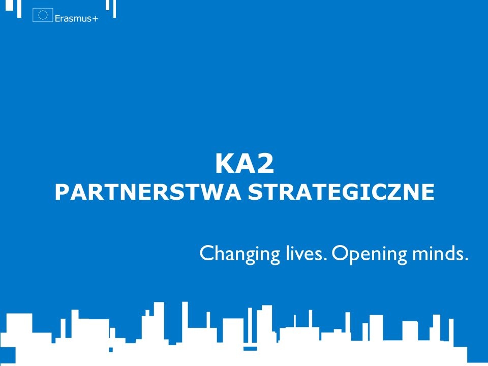 Changing lives. Opening minds. KA2 PARTNERSTWA STRATEGICZNE