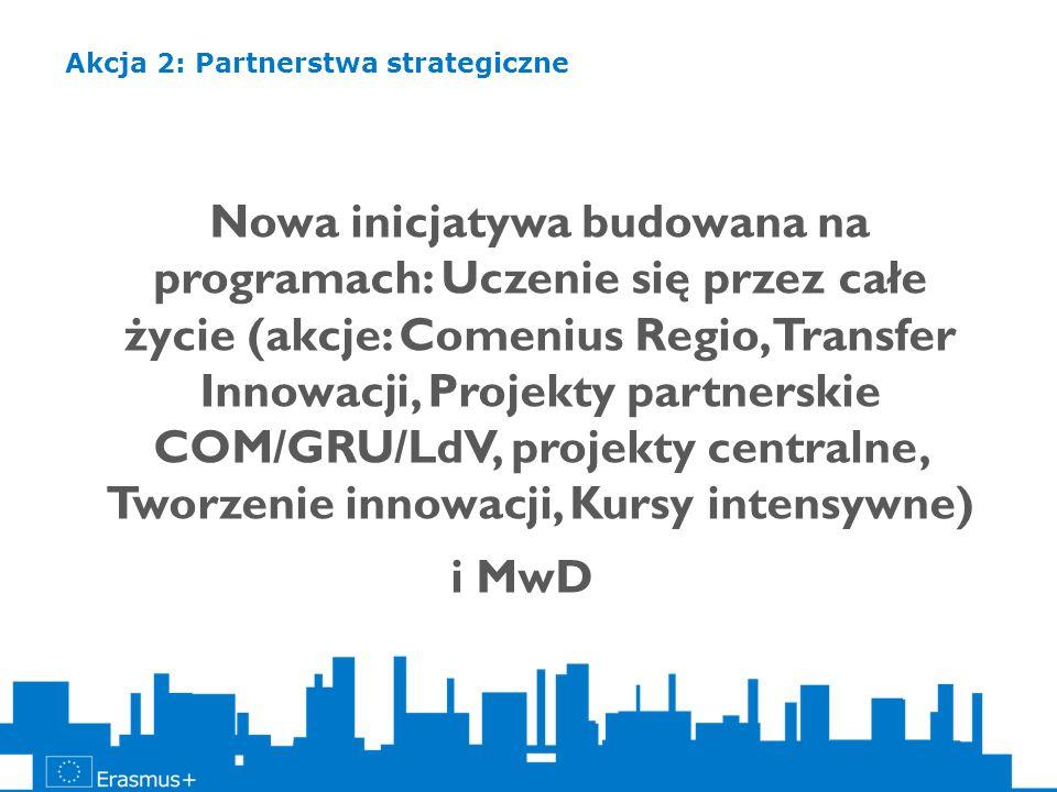 Nowa inicjatywa budowana na programach: Uczenie się przez całe życie (akcje: Comenius Regio, Transfer Innowacji, Projekty partnerskie COM/GRU/LdV, pro