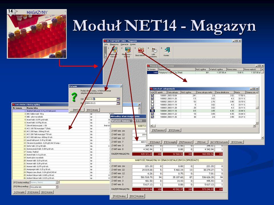 Moduł NET14 - Magazyn Moduł NET14 - Magazyn