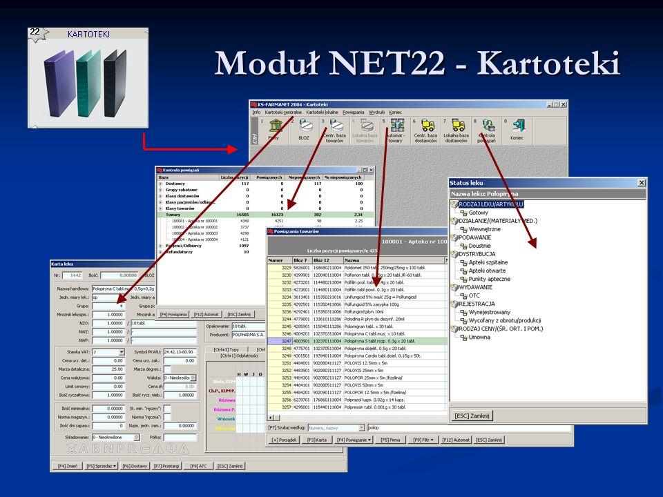 Moduł NET22 - Kartoteki Moduł NET22 - Kartoteki