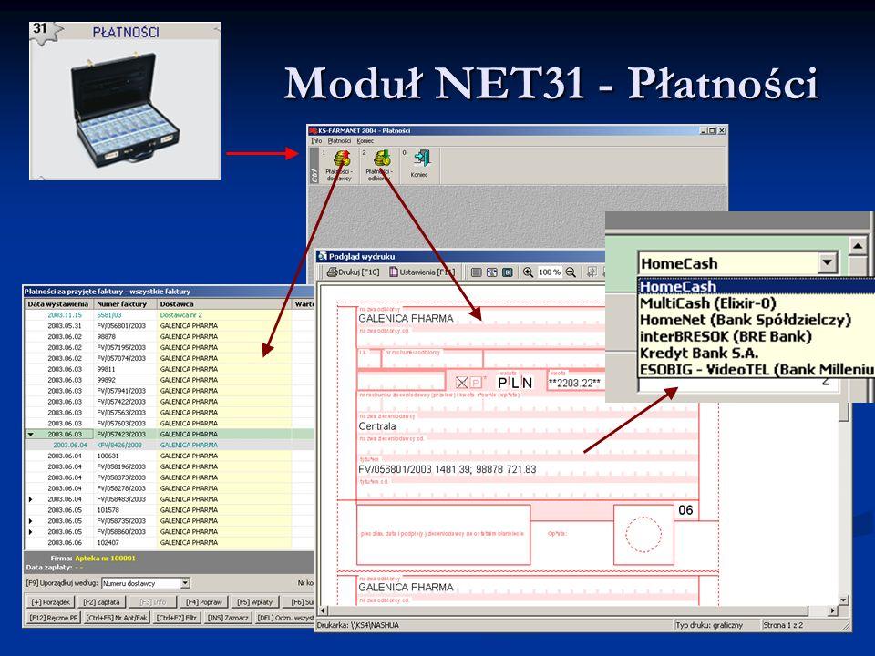 Moduł NET31 - Płatności Moduł NET31 - Płatności