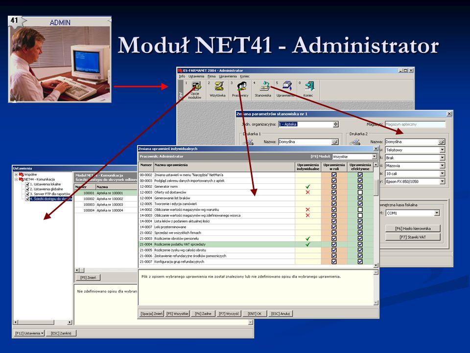 Moduł NET41 - Administrator Moduł NET41 - Administrator