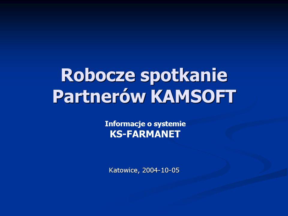 Robocze spotkanie Partnerów KAMSOFT Katowice, 2004-10-05 Informacje o systemie KS-FARMANET