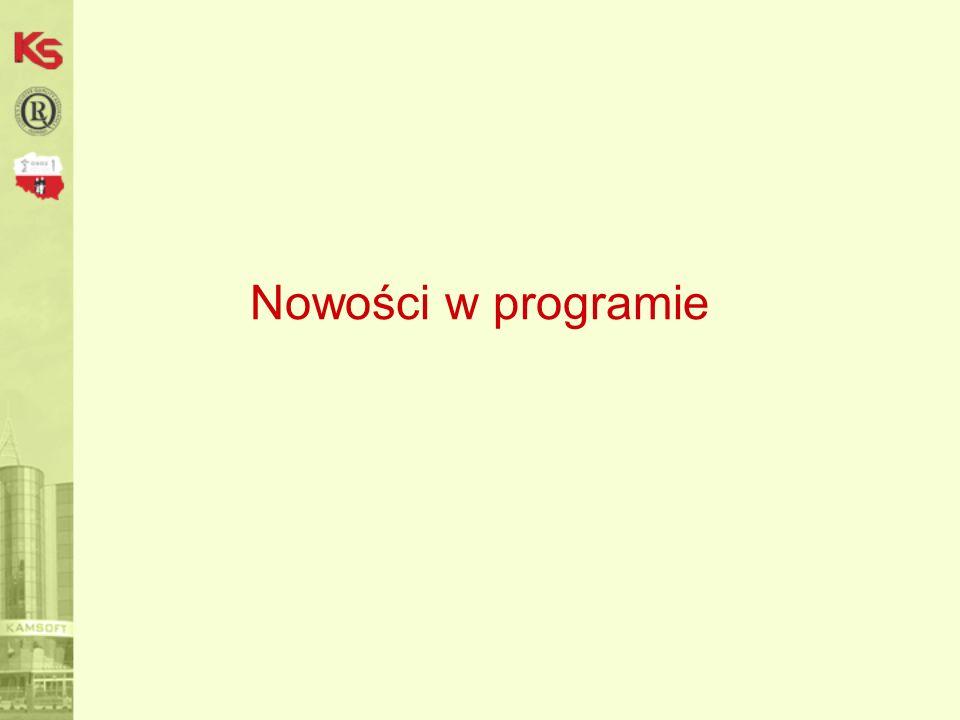 Nowości w programie