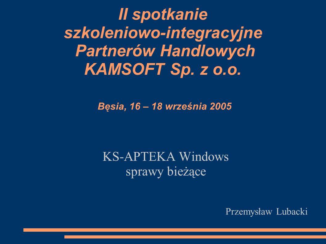 II spotkanie szkoleniowo-integracyjne Partnerów Handlowych KAMSOFT Sp.