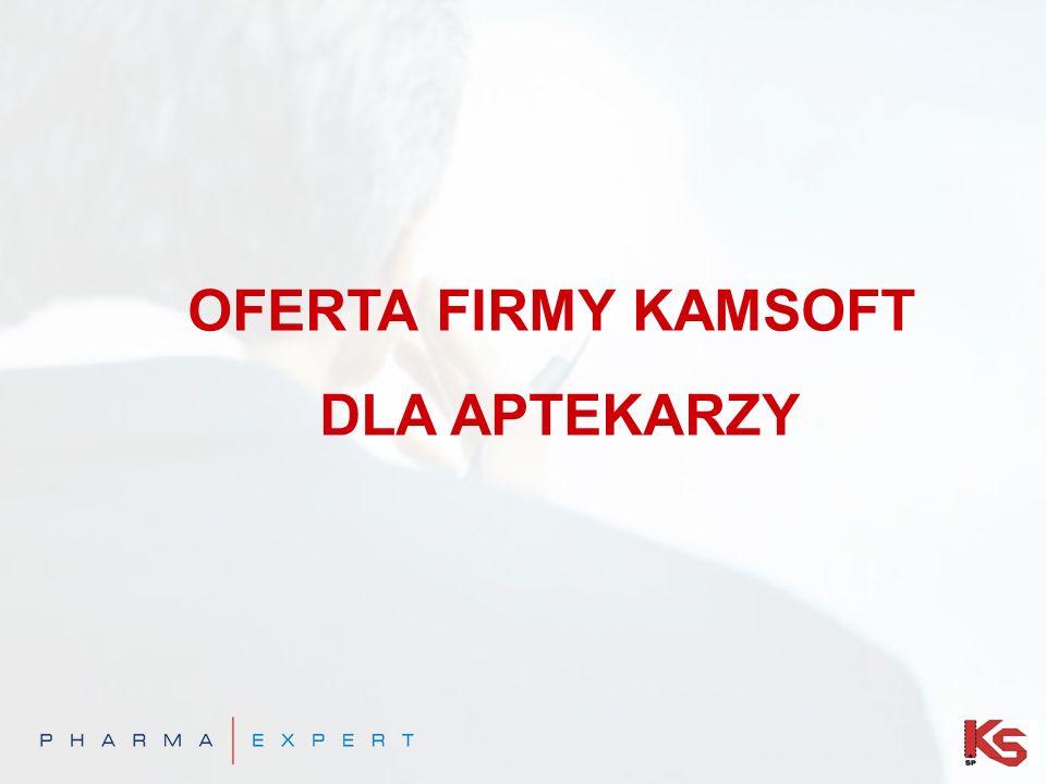 OFERTA FIRMY KAMSOFT DLA APTEKARZY
