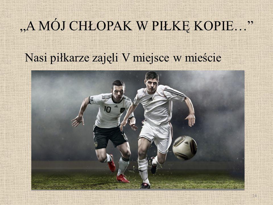 A MÓJ CHŁOPAK W PIŁKĘ KOPIE… Nasi piłkarze zajęli V miejsce w mieście 14