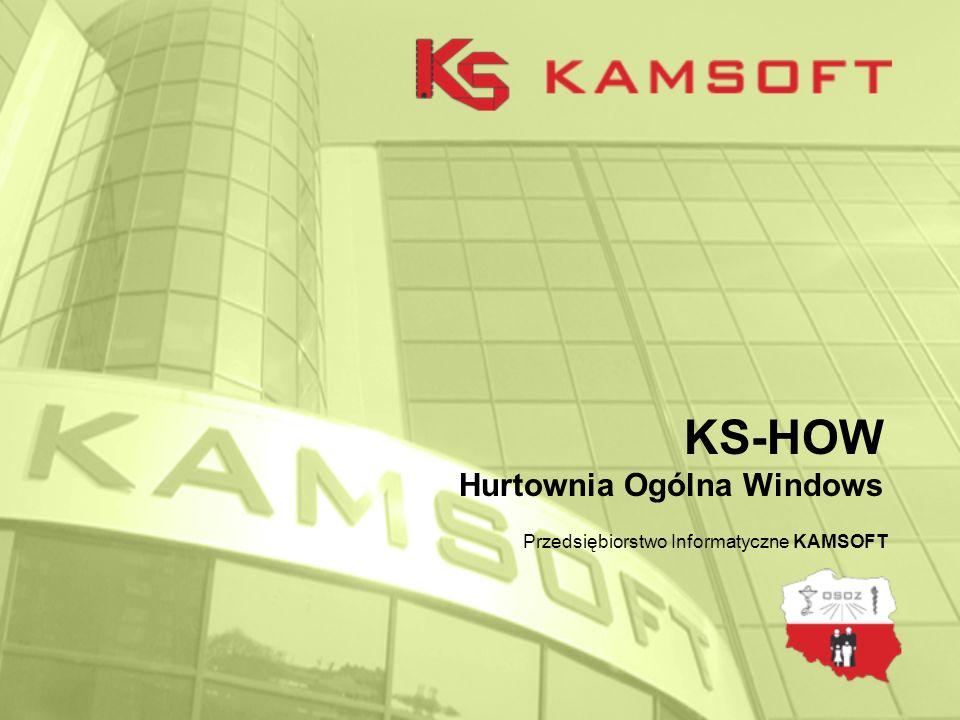 KS-HOW Hurtownia Ogólna Windows Przedsiębiorstwo Informatyczne KAMSOFT