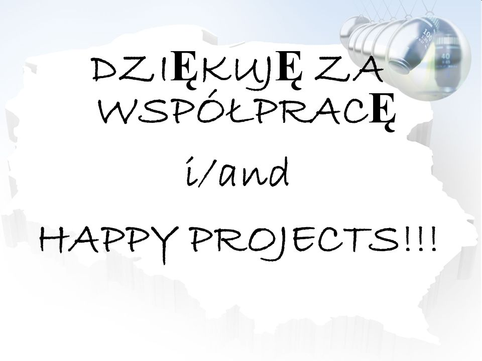 DZI Ę KUJ Ę ZA WSPÓŁPRAC Ę i/and HAPPY PROJECTS!!!
