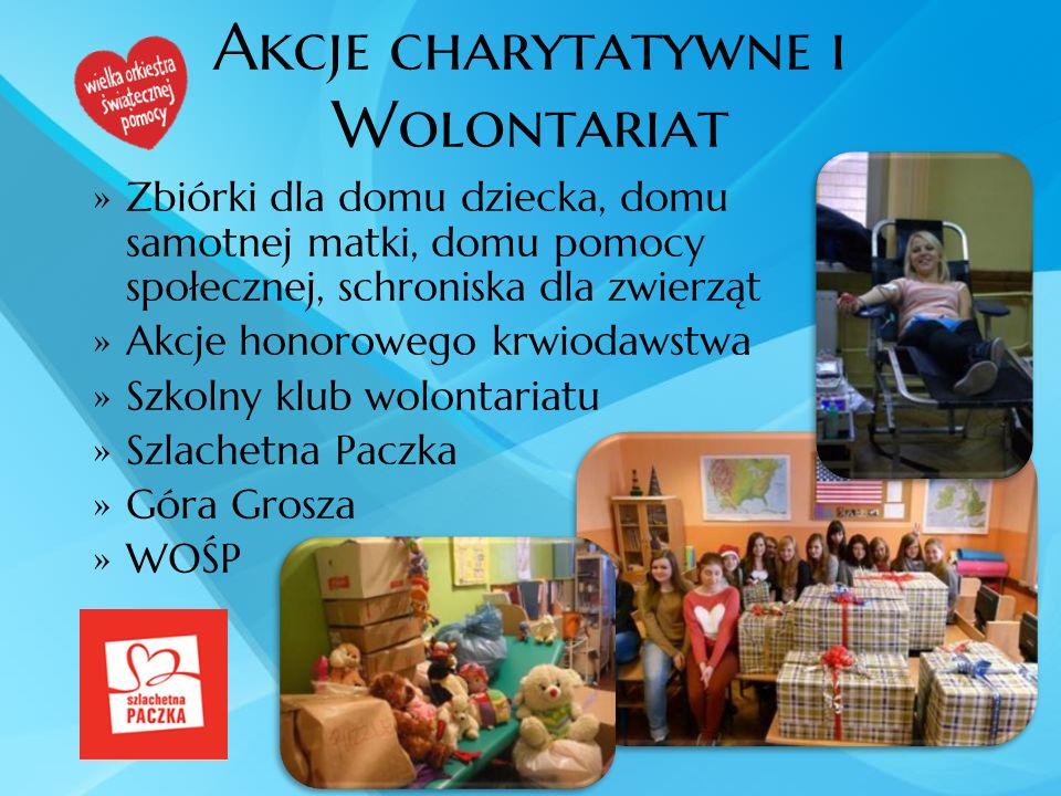 Akcje charytatywne i Wolontariat Zbiórki dla domu dziecka, domu samotnej matki, domu pomocy społecznej, schroniska dla zwierząt Akcje honorowego krwio