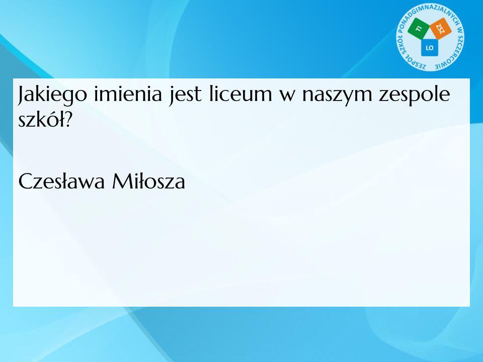 Czesława Miłosza