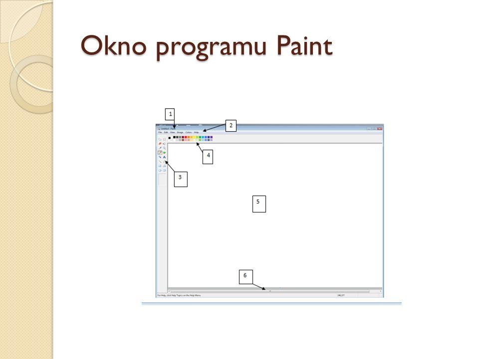 Okno programu Paint