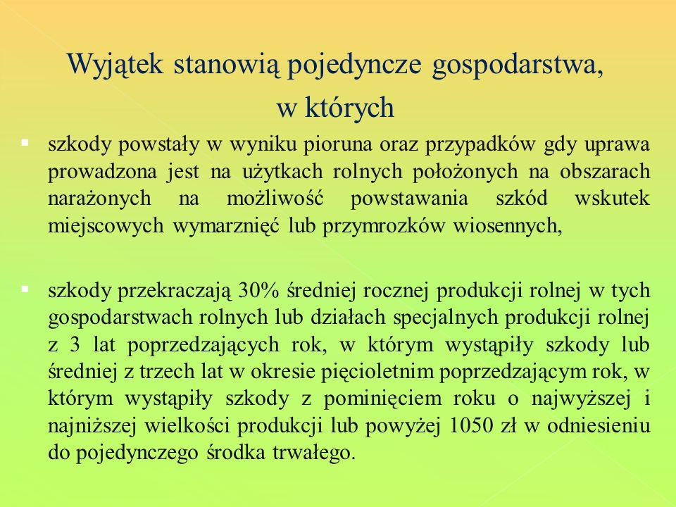 OKREŚLENIE ZAKRESU I WYSOKOŚCI SZKODY W ŚRODKACH TRWAŁYCH 2.