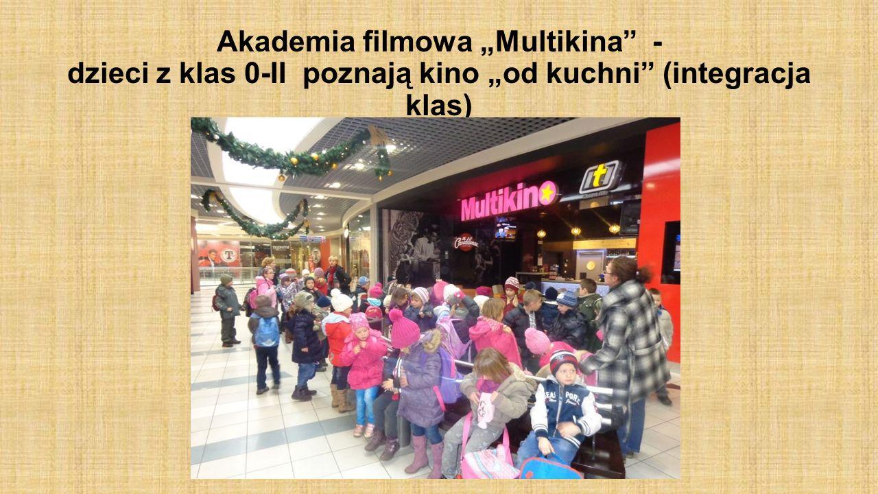 Akademia filmowa Multikina - dzieci z klas 0-II poznają kino od kuchni (integracja klas)